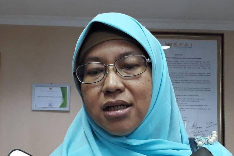 Koordinator Juru Debat Badan Pemenangan Nasional (BPN) Prabowo-Sandiaga Uno, Ledia Hanifa Amaliah, di kantor KPAI, Jakarta Pusat, Rabu (13/3/2019).