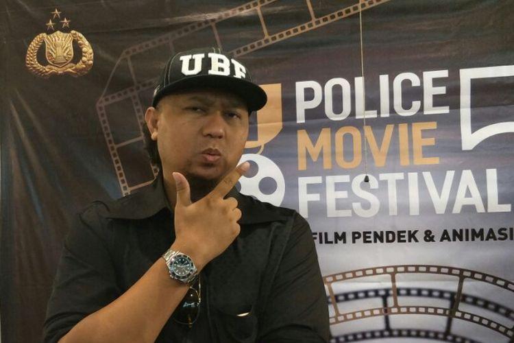 Anggy Umbara saat ditemui usai jumpa pers Police Movie Festival 5 di kawasan Kebayoran, Jakarta Selatan, Senin (23/4/2018).