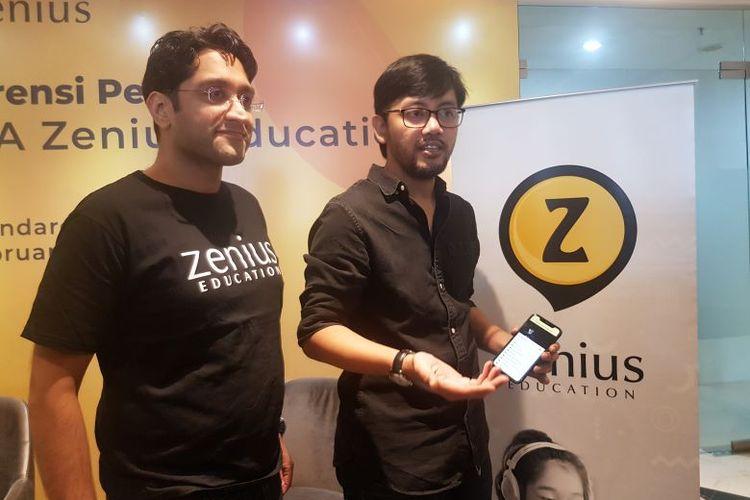 Pengumuman Pendanaan Seri A yang diterima Zenius di GoWork, Jakarta, Rabu (5/2/2020).