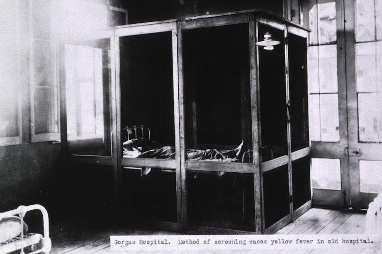 tempat screening pasien yang dilakukan Walter Reed dalam penelitian penanganan epidemi tifus dan demam kuning.