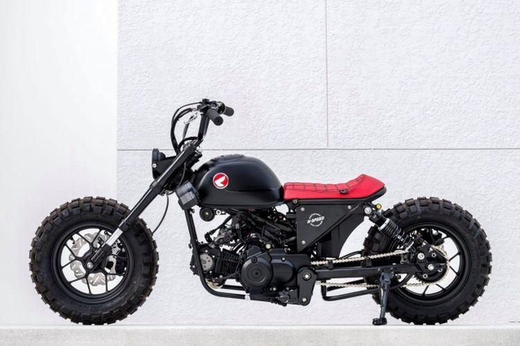 Motor custom Honda Monkey bergaya chopper bobber garapan K-Speed