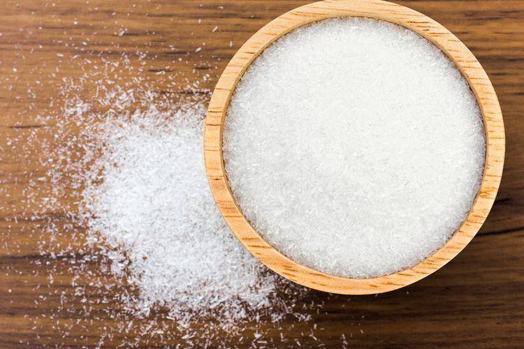Ilustrasi monosodium glutamat (MSG) atau micin.