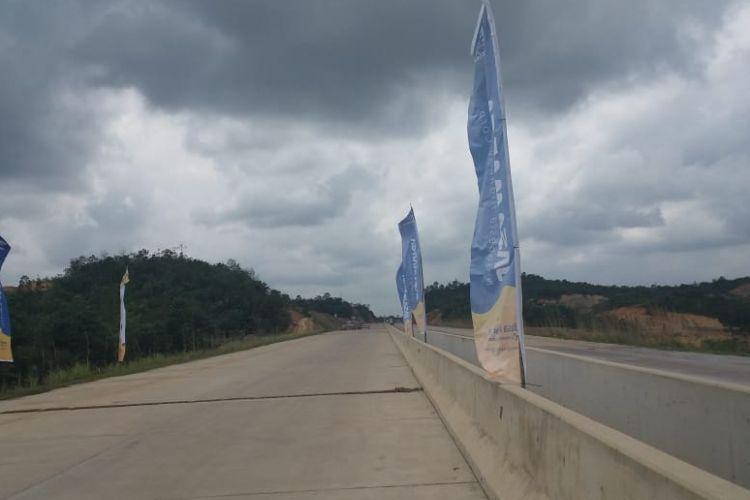 Kondisi pembangunan Jalan Tol Balikpapan-Samarinda Seksi 2, Kamis (16/8/2018).