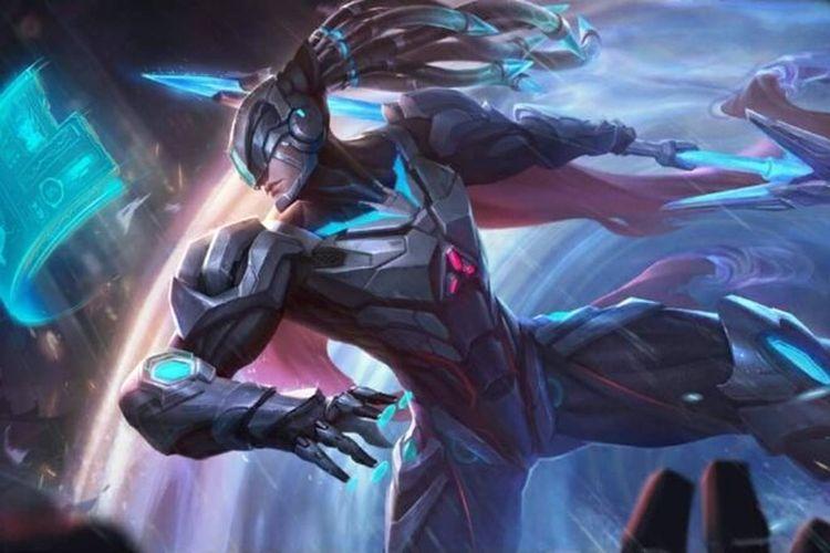 Ilustrasi hero Alpha dengan desain baru di Mobile Legends.