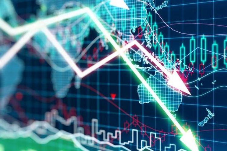 Ilustrasi pergerakan saham
