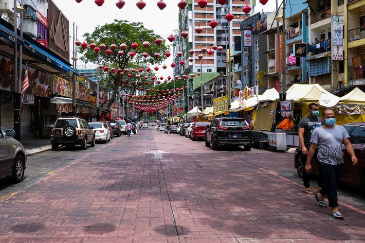 Suasana Kuala Lumpur saat pembatasan karena virus corona, April 2020.