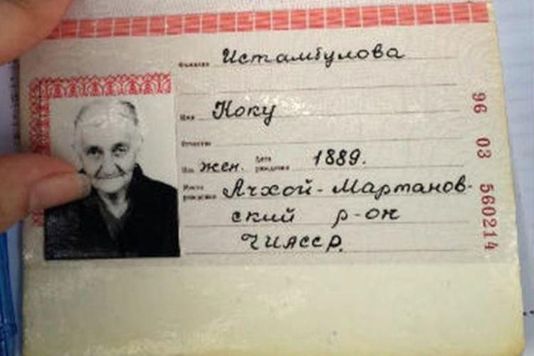 Inilah dokumen yang memperlihatkan Koku Istambulova lahir pada 1 Juni 1889.
