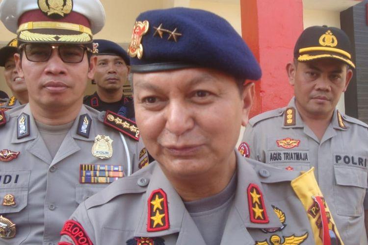 Kapolda Jawa Tengah Irjen Pol Rycko Amelza Dahniel mengunjungi Markas Brimob Purwokerto, Jawa Tengah, Senin (13/5/2019).