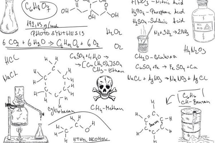 Ilustrasi rumus kimia