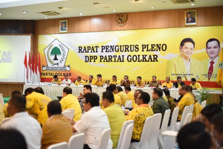 Rapat pleno DPP Partai Golkar yang digelar di kantor DPP Partai Golkar, Rabu (27/11/2019).