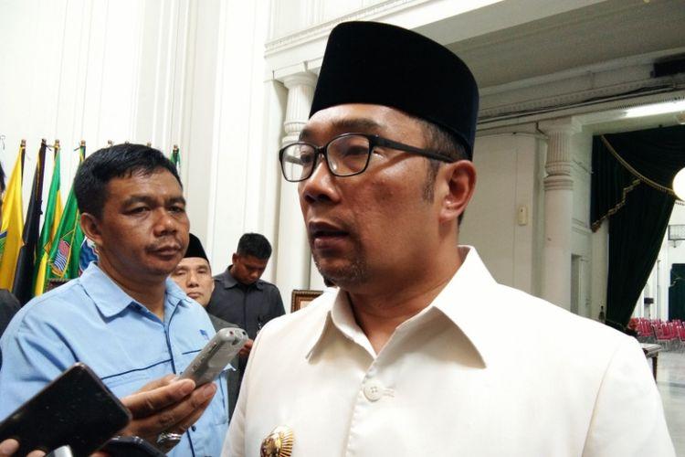 Gubernur Jabar Ridwan Kamil saat ditemui di Gedung Sate, Jalan Diponegoro, Rabu (3/10/2018).