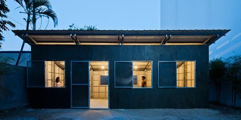 Rumah berbahan dasar baja ringan untuk masyarakat berpenghasilan rendah di Vietnam.