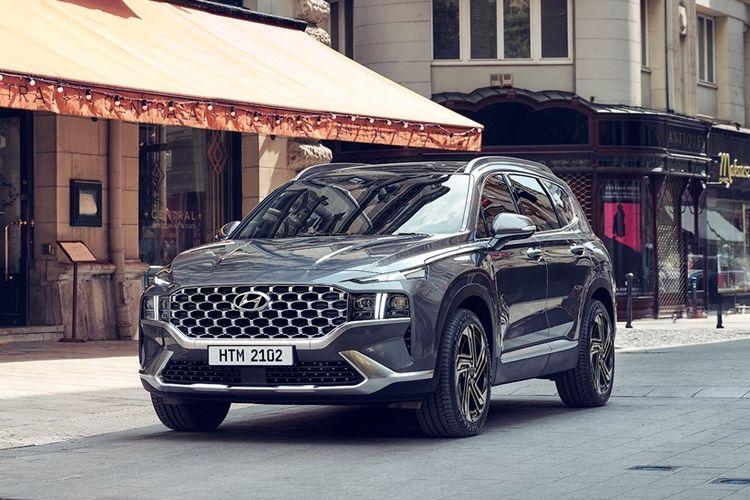 Ilustrasi Hyundai Santa Fe facelift
