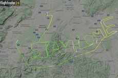 Manuver di Udara, Pilot Ini Bikin Tulisan