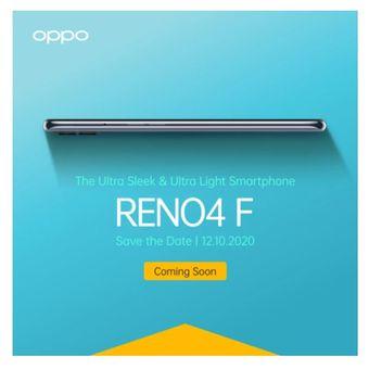Oppo Reno4 F meluncur 12 Oktober 2020