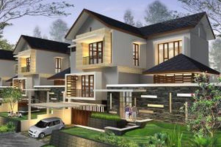 Salah satu tipe rumah klaster The Cliff, Bogor Nirwana Residence.