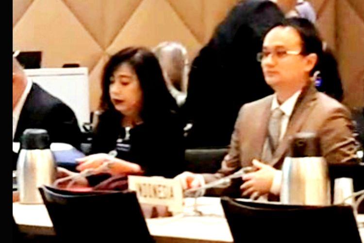 Wamendag Jerry Sambuaga bersama Direktur Pengamanan Perdagangan Pradnyawati, dalam Forum Konsultasi Sengketa Kelapa Sawit di WTO.