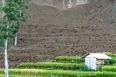 Tebing 300 Meter di Cianjur Longsor, 3 Hektar Sawah Tergerus, Petani Terancam Gagal Panen