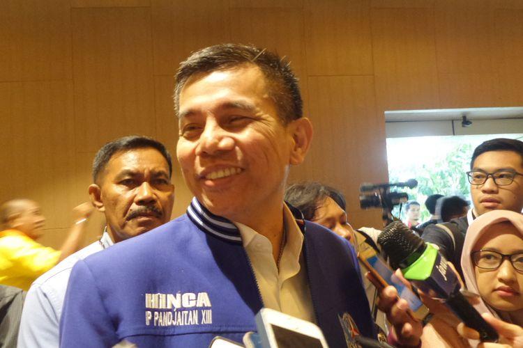 Sekretaris Jenderal Partai Demokrat Hinca Panjaitan saat ditemui di Hotel Grand Mercure Harmoni, Jakarta Pusat, Sabtu (17/2/2018).