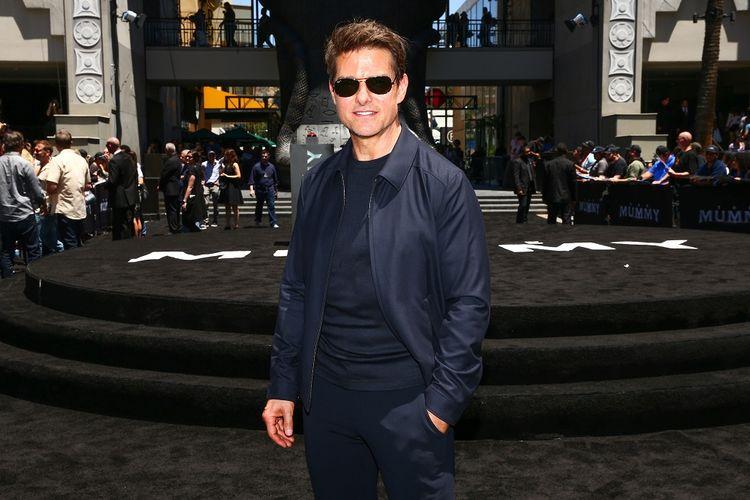 Aktor Tom Cruise menghadiri The Mummy Day di Hollywood & Highland, Hollywood, California, Sabtu (20/5/2017).