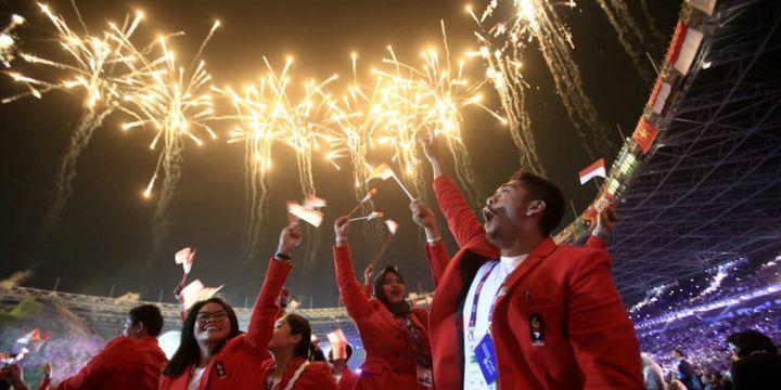 Opening Ceremony Asian Games 2018, Sabtu, (18/8/2018).