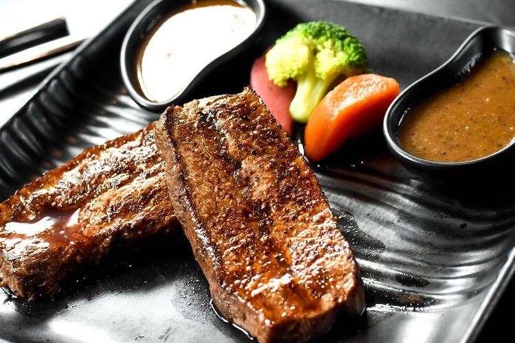 Ilustrasi steak daging