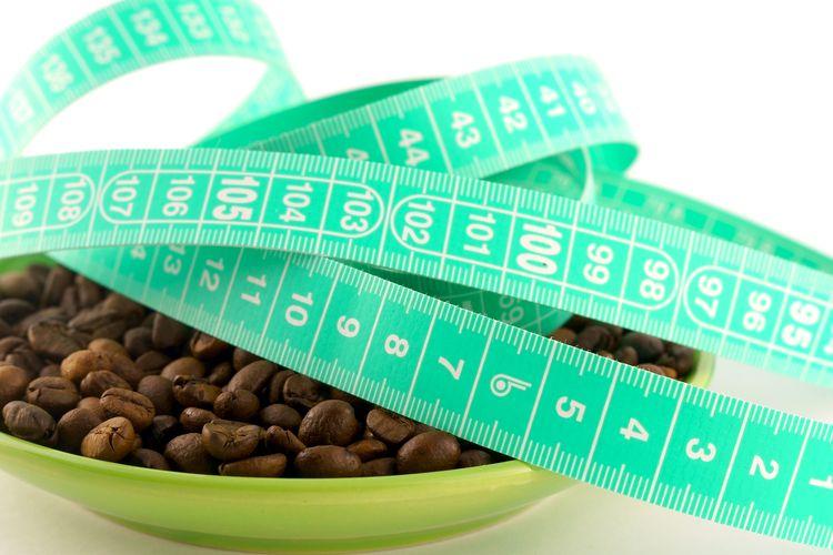 Ilustrasi diet dengan kopi