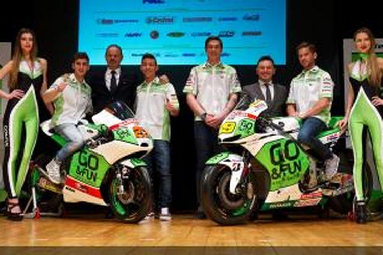 Tim Honda Gresini saat peluncuran untuk musim balap 2014 di San Marino, Kamis (30/01/2014).