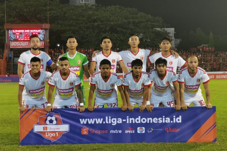 Skuad Badak Lampung FC pada laga versus PSM Makassar, 24 Mei 2019.