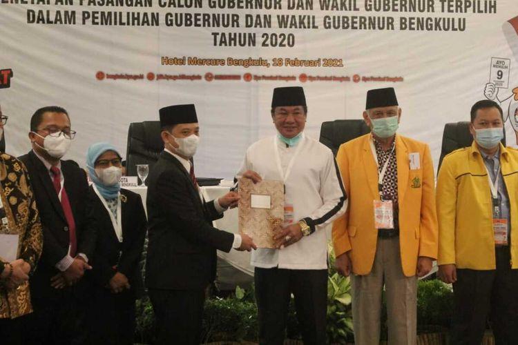 Wagub Bengkulu Terpilih Rosjonsyah menghadiri pleno penetapan KPU Provinsi Bengkulu