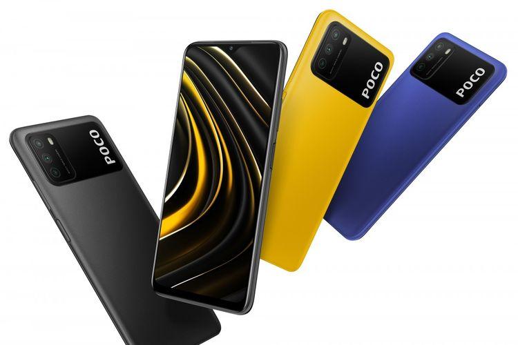 Tiga varian warna Poco M3