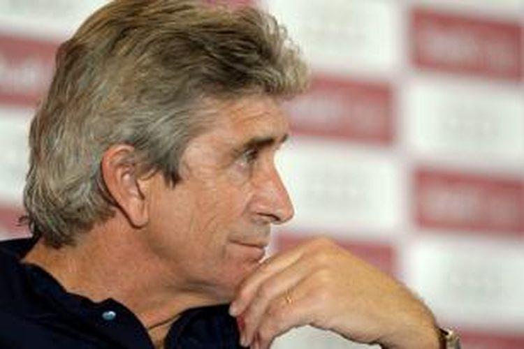 Pelatih Manchester City, Manuel Pellegrini.