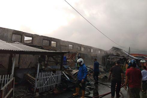 Asrama Brimob Terbakar, 10 Rumah Hangus Dilalap Si Jago Merah