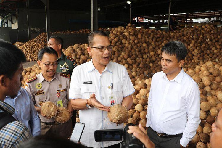 Komoditas kelapa parut RI untuk diekspor.