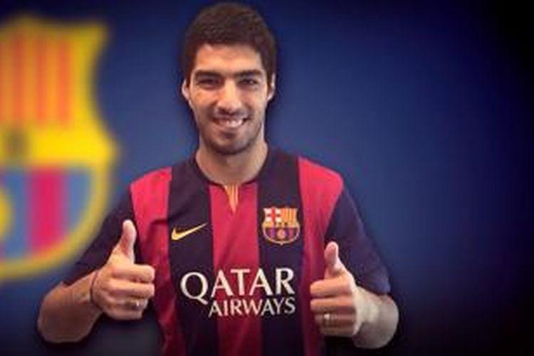 Luis Suarez resmi jadi milik Barcelona.