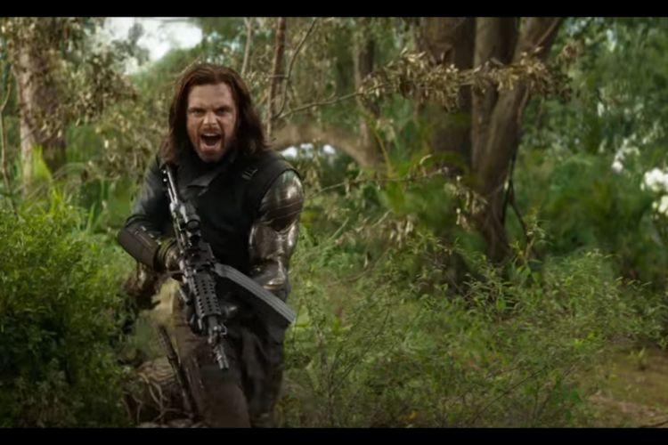 Winter Soldier beraksi dalam Avengers: Infinity War.