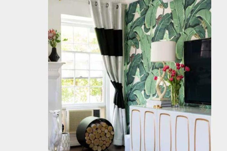 Garis-garis besar untuk menonjolkan pola wallpaper