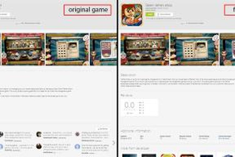 Game Ramen Chain buatan TouchTen asal Jakarta, dibajak dan diubah namanya menjadi Daren Ramen Shop