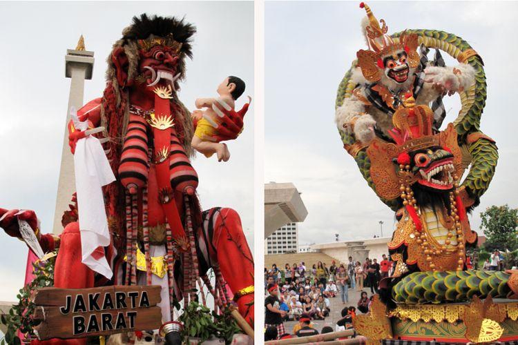 Perayaan menjelang Nyepi masyarakat Bali pemeluk Hindu, pada Tahun Saka 1932, tanggal 15 Maret 2010, di Monas, Jakarta Pusat.
