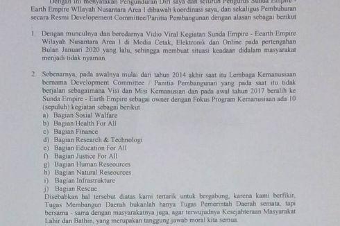 Koordinator Sunda Empire Aceh Mengundurkan Diri, Nyatakan Organisasi Bubar