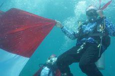 Upacara Bendera Bawah Laut Digelar di Teluk Maumere