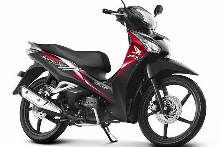 Tampang baru Honda Supra X 125 Helm in dengan striping baru.