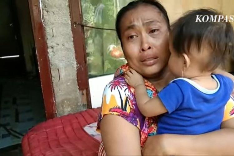 Tangkapan layar Yuli, ibu yang meninggal di Serang, Banten usai diberitakan kelaparan