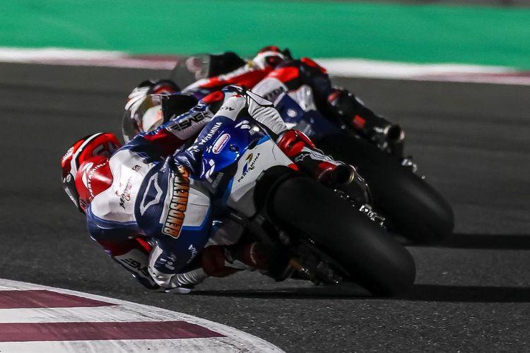 Bo Bendsneyder saat balapan di Moto2 Doha 2021