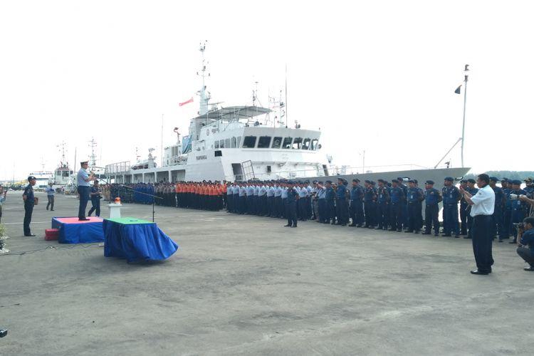 Coast Guard dari masing_masing negara gelar apel bersama sebelum pelatihan Penanggulangan pencemaran di perairan Benoa