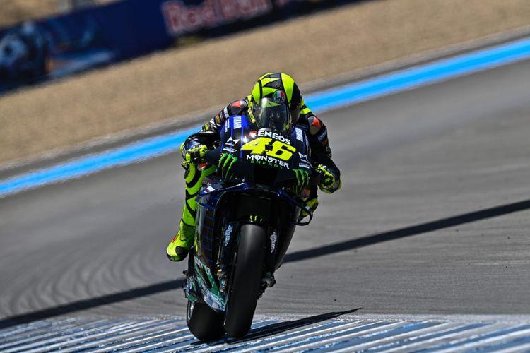 Valentino Rossi saat berlaga di GP Jerez 2020