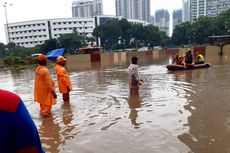 Jakarta Banjir, Ketinggian Air di Underpass Kemayoran sampai 5 Meter