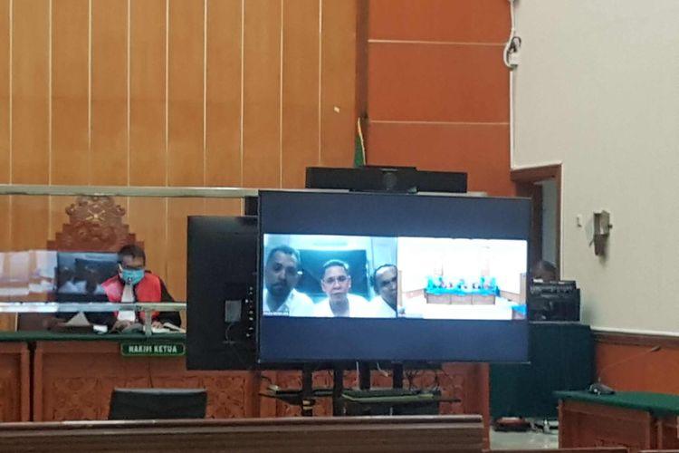 Suasana sidang putusan perkara pembunuhan berencana dan pengeroyokan yang menjerat John Kei dan kawan-kawan digelar hari ini, Kamis (20/5/2021) di Pengadilan Negeri (PN) Jakarta Barat.
