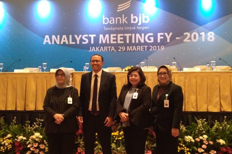 Para direksi bank bjb dalam Analys Meeting Full Year 2018.