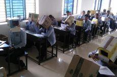 Cegah Mencontek, Sekolah di India Pakaikan Muridnya Kardus di Kepala Saat Ujian